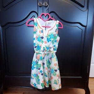 Tropical Print Summer Dress